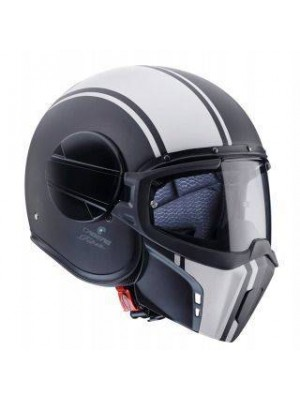 CASCO JET CABERG GHOST LEGEND NEGRO MATE/BLANCO