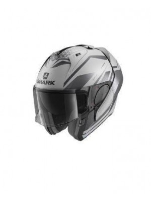 CASCO  ABATIBLE SHARK EVO ES YARI Mat Silver Anthracite Black NEW HE9804ESAK