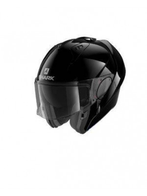 CASCO ABATIBLE SHARK EVO ES BLANK Black NEW HE9800EBLK