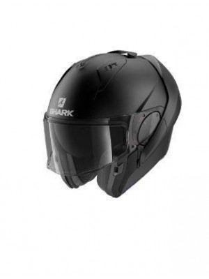 CASCO ABATIBLE SHARK EVO ES BLANK MAT Black Mat NEW HE9802EKMA