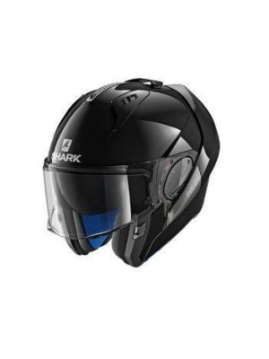 CASCO ABATIBLE SHARK EVO-ONE 2 BLANK Black HE9700EBLK