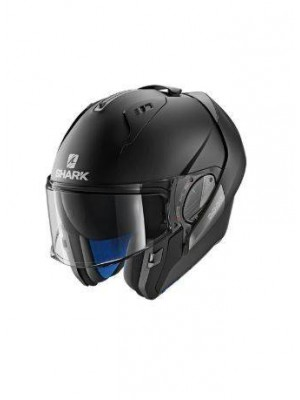 CASCO ABATIBLE SHARK EVO-ONE 2 BLANK Mat Black Mat HE9702EKMA