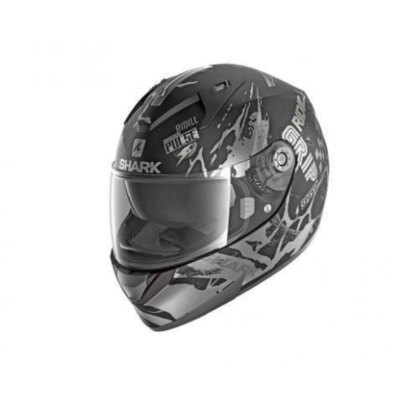 CASCO INTEGRAL SHARK RIDILL 1.2 DRIFT-R MAT Black Anthrac Silver HE0536EKAS
