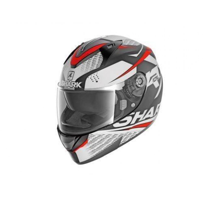 CASCO INTEGRAL SHARK RIDILL 1.2 STRATOM MAT Black white red HE0543EKWR