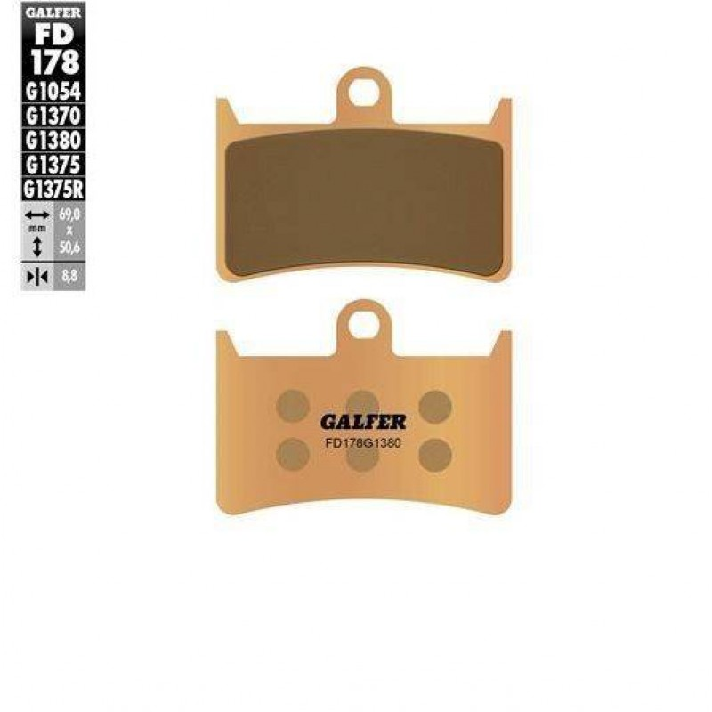 FD178G1380 PASTILLAS DE FRENO MOTO GALFER (SINTER SCOOTER BRAKE PADS)