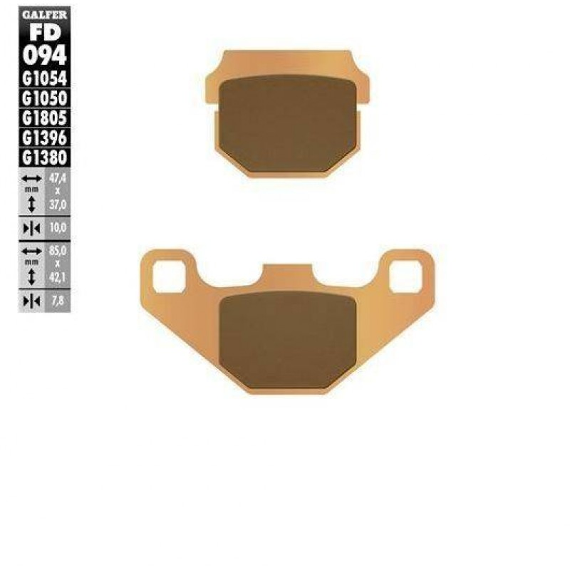 FD094G1396 PASTILLAS DE FRENO MOTO (SINTER OFF-ROAD BRAKE PADS)