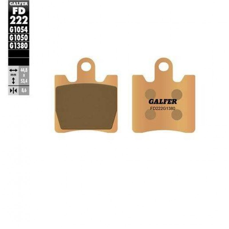 FD222G1380 PASTILLAS DE FRENO MOTO GALFER (SINTER SCOOTER BRAKE PADS)