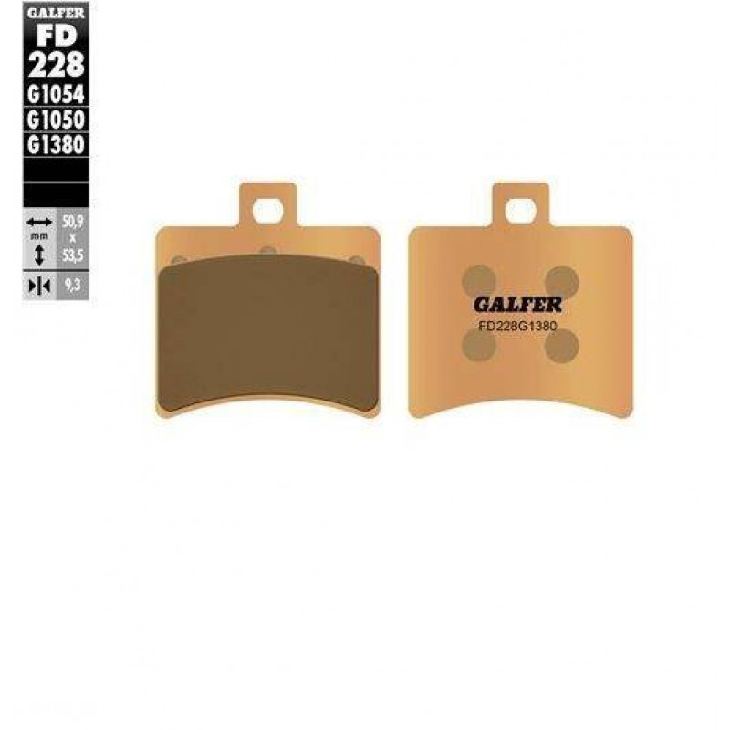 FD228G1380 PASTILLAS DE FRENO MOTO GALFER (SINTER SCOOTER BRAKE PADS)