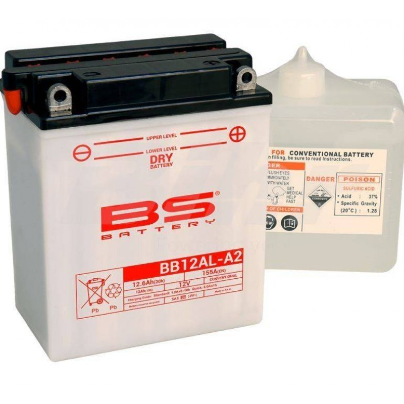 BATERIA BS BATTERY BB12AL-A2 12V 12  AH